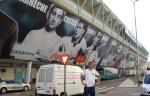 Bugrino visitando o estádio do Celta de Vigo