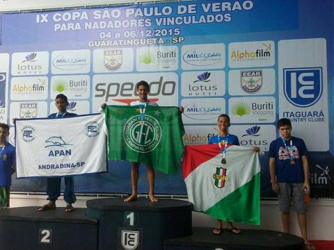 natação Guarani - podio