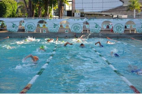 natação Guarani - treino